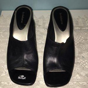 Liz Claiborne Black Leather Sandals